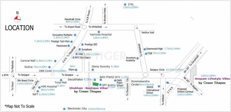 Green Shapes Developers Shubham Boutique Villa Location Plan