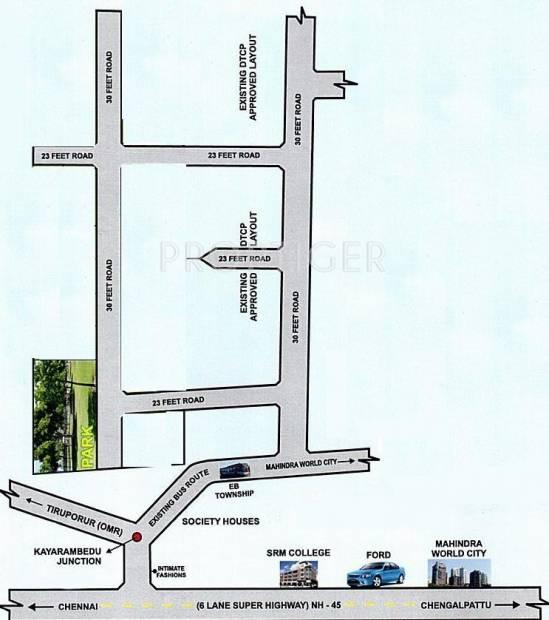 Images for Location Plan of Avani Sri Karpagavinayagar Avenue
