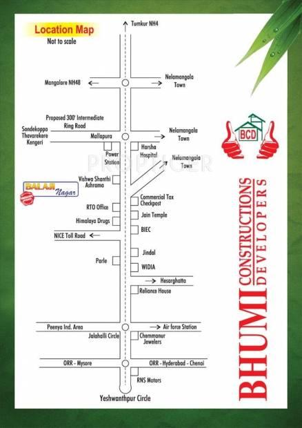 Bhumi Construction Balaji Nagara Location Plan