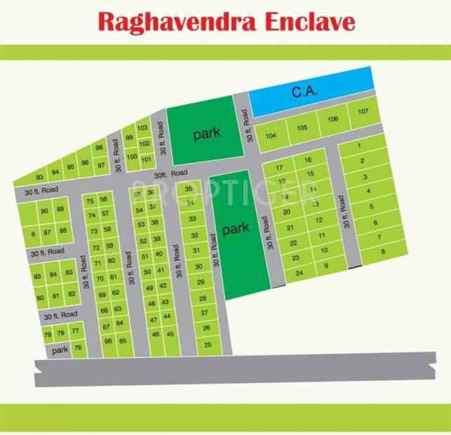 Bhumi Construction Raghavendra Enclave Layout Plan