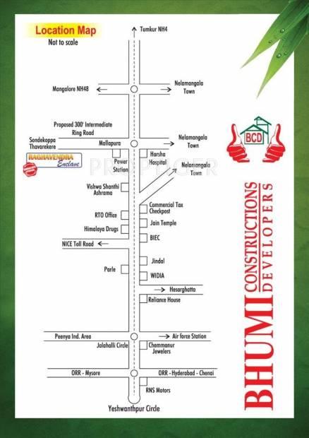 Bhumi Construction Raghavendra Enclave Location Plan