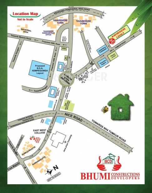 Bhumi Construction Kadabagere Layout Location Plan