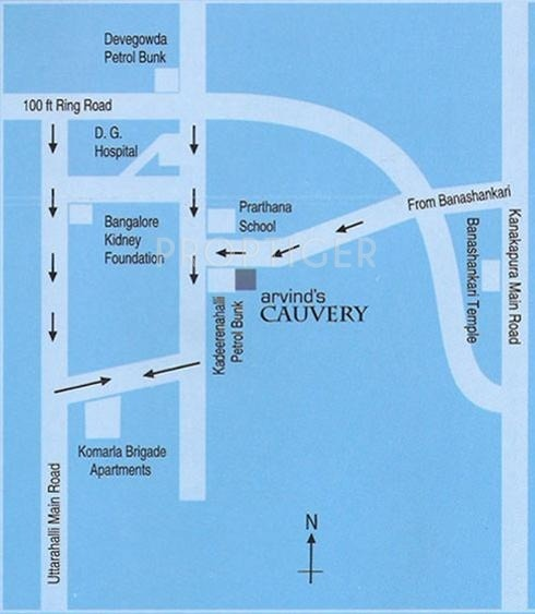 Arvind Builders Cauvery Location Plan