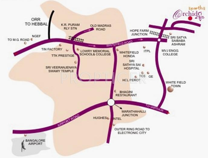 Images for Location Plan of Parth Group Parth Orchid
