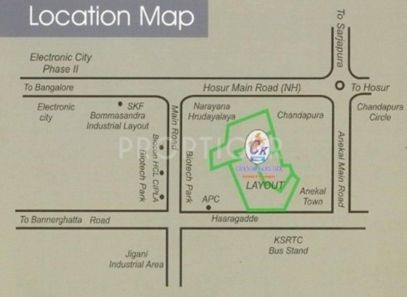 Images for Location Plan of Surabhi Chandrakanta Infinity