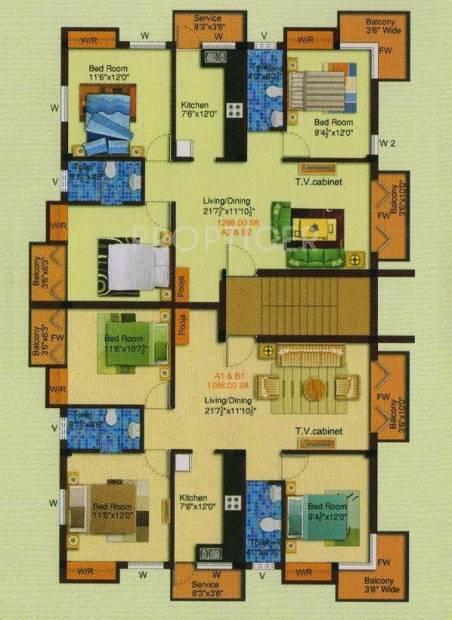 Images for Cluster Plan of JHL Kamadhenu Enclave