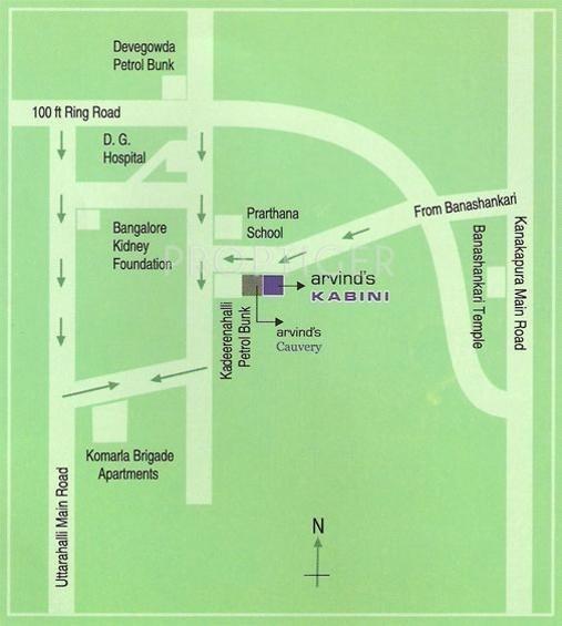 Arvind Builders Kabini Location Plan