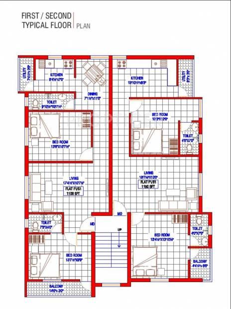 Images for Cluster Plan of Oyester Royal Grande