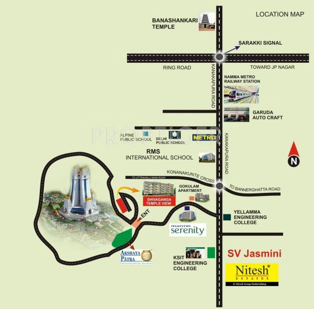 Images for Location Plan of Shivaganga Temple View