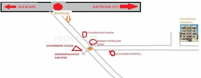 Shivaganga Infra Ushodaya Location Plan