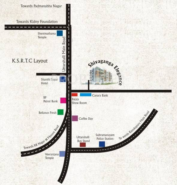 Images for Location Plan of Shivaganga Elegance