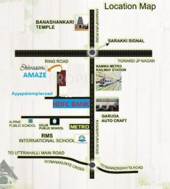 Shivaganga Infra Amaze Location Plan