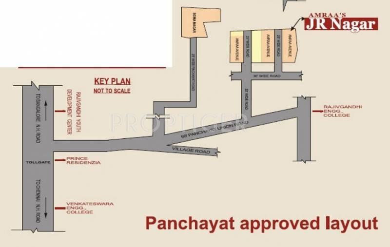 Amraa Properties J R Nagar Location Plan
