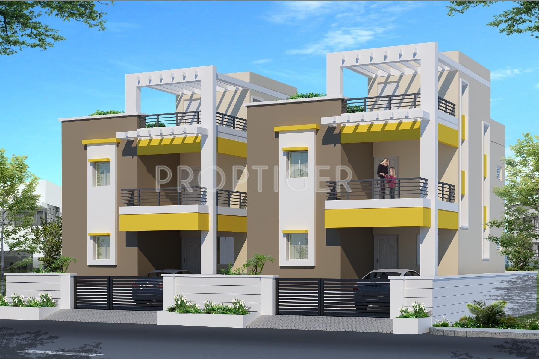 Pappas duplex house in kovilambakkam chennai price for Front view of duplex house in india