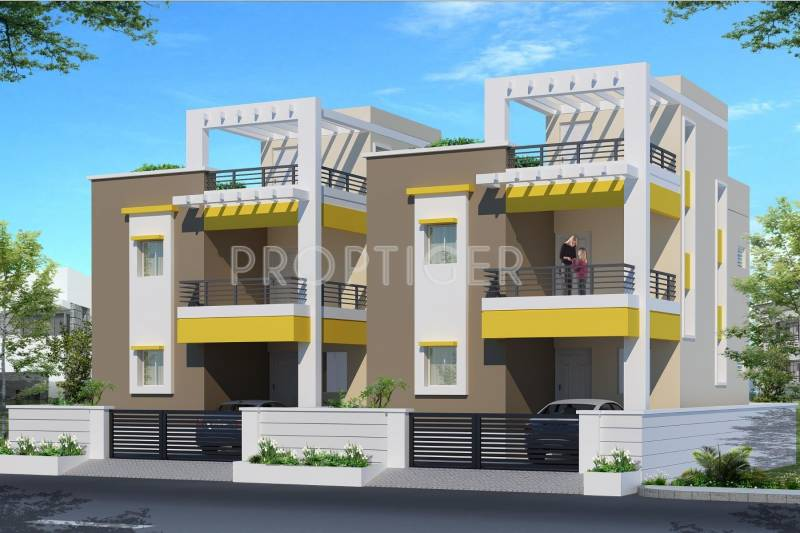 Main elevation image of pappas builder duplex house unit for Duplex builders near me