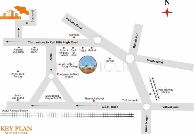Images for Location Plan of Golden Subhiksham Nagar