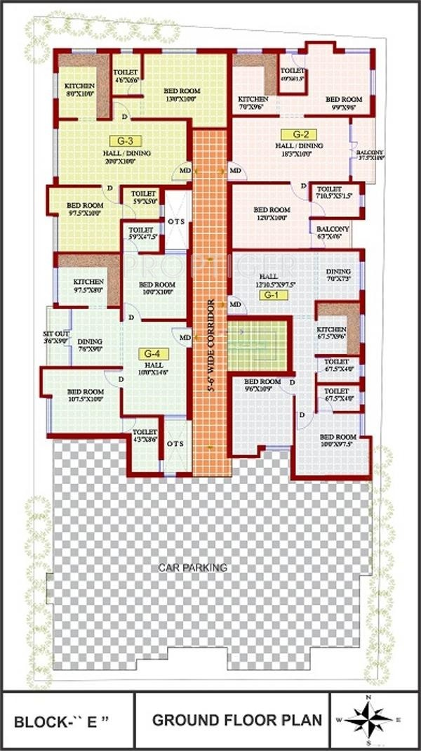 675 sq ft 1 bhk 1t apartment for sale in jmm homes lakshmi for Apartment cluster plans