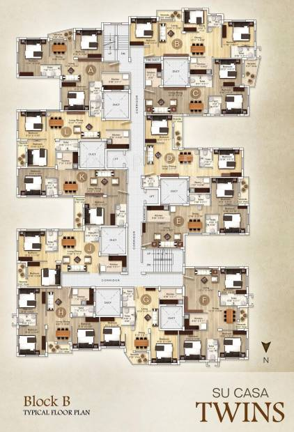 Images for Cluster Plan of Rupayan Su Casa Twins