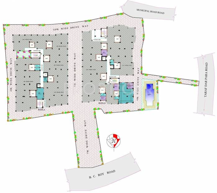 Images for Layout Plan of Rupayan Su Casa Twins