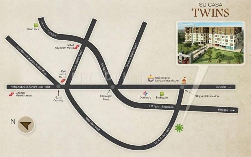 Images for Location Plan of Rupayan Su Casa Twins