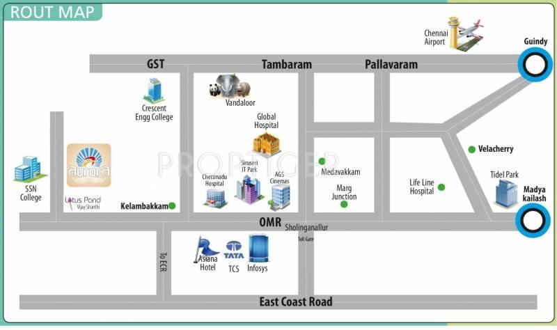 Parjay Promoters Aurora Location Plan