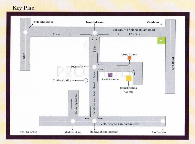 Parjay Promoters Ramakrishna Avenue Location Plan