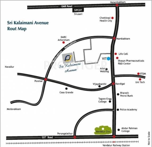 Parjay Promoters Sri Kalaimani Avenue Location Plan