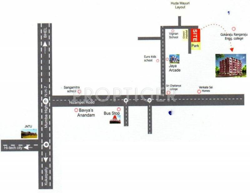 sri-jaya-classic Location Plan