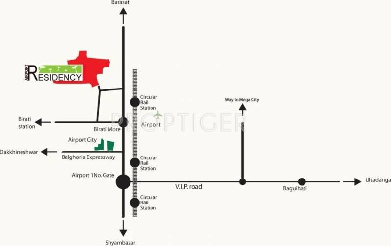 airport-residency Images for Location Plan of Jupiter Airport Residency