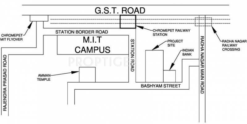 VijaySaras Builders Podhigai Apartments Location Plan
