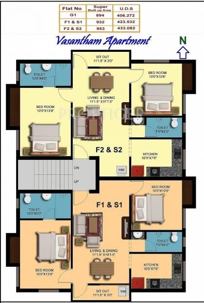 Images for Cluster Plan of Sakthi Vasantham Apartment