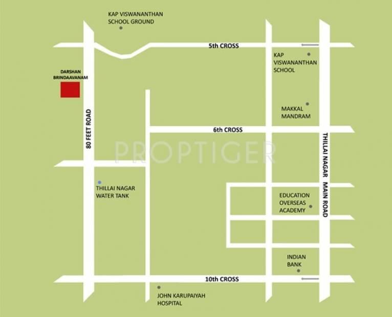 Images for Location Plan of Darshan Brindaavanam