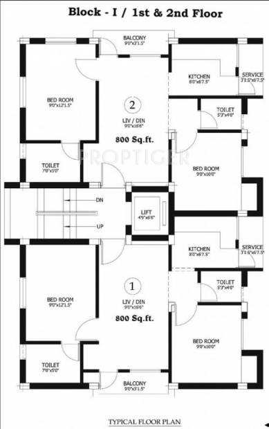 Images for Cluster Plan of Sri Raghavendra Foundation Guru Residency