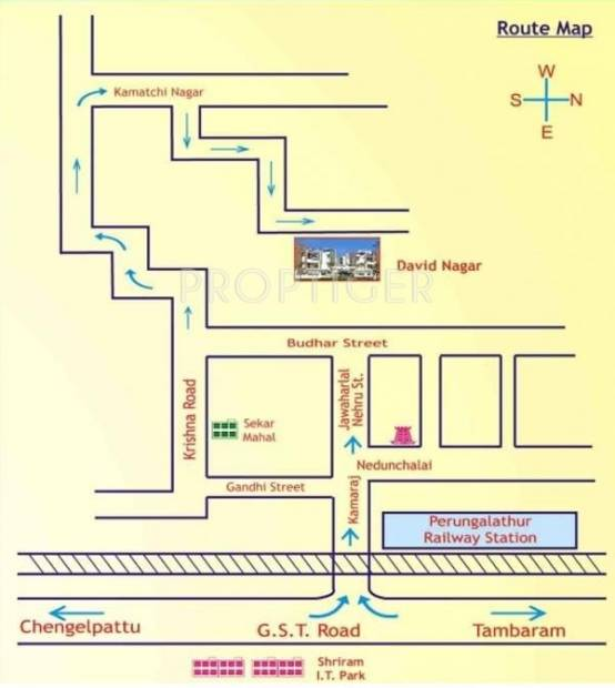 Images for Location Plan of Raghavendra Guru Orchids