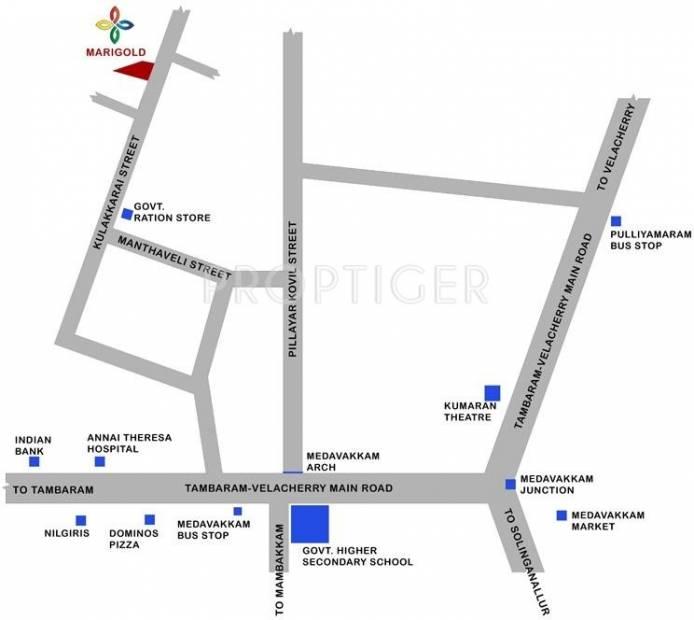 Sumangali Residences Marigold Location Plan