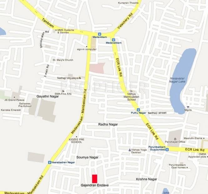 Sumangali Residences Villa In Perumbakkam Location Plan