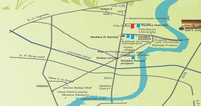 vedika-happy-valley Images for Location Plan of Sheetal Vedika Happy Valley