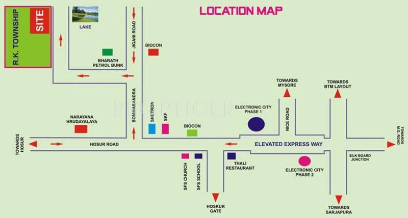 Dreamciti Realty Aranya Residency Location Plan