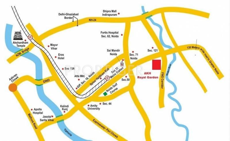 AKH Group Royal Garden Location Plan