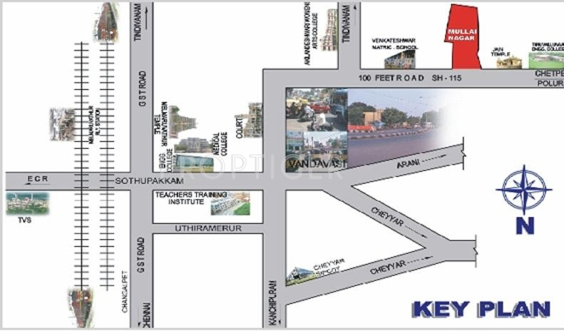 Images for Location Plan of Darshan Foundation Mullai Nagar
