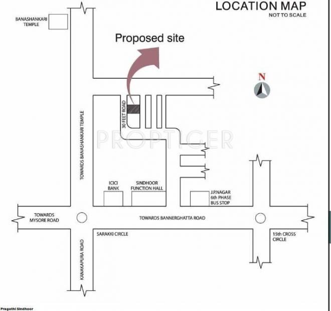 Pragathi Sindhoor Location Plan