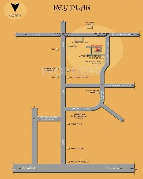 Devi Constructions Aishwariyam Location Plan