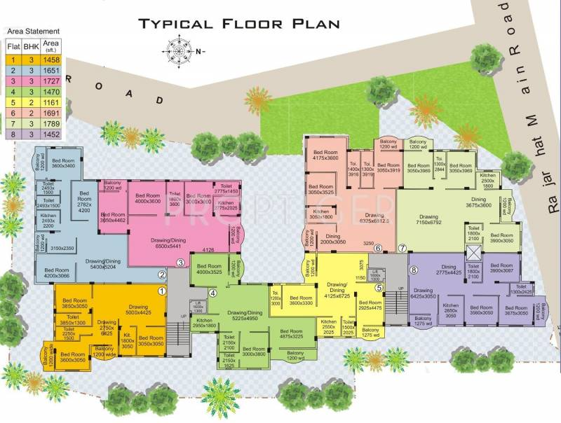 residency Single Block Cluster Plan