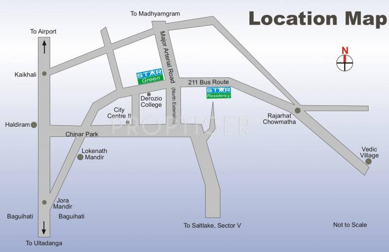 residency Images for Location Plan of Star Abasan Star Residency