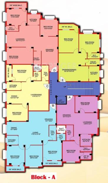 Images for Cluster Plan of Rechi Anandi Apartment