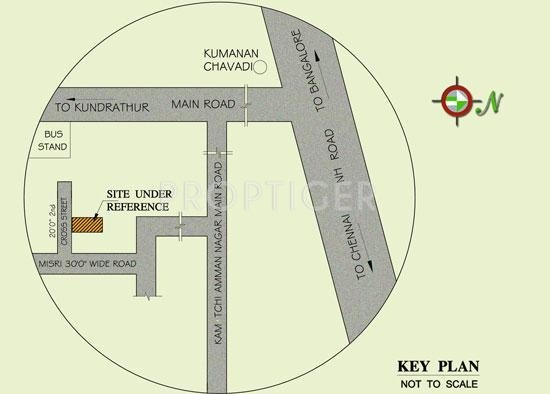 Images for Location Plan of MS Builders Sri Padmavathy Nagar