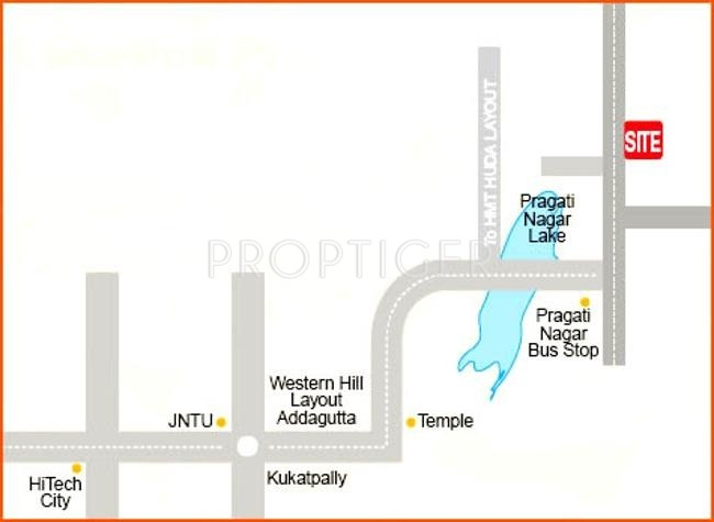 Images for Location Plan of Aakriti Saptagiri Tower