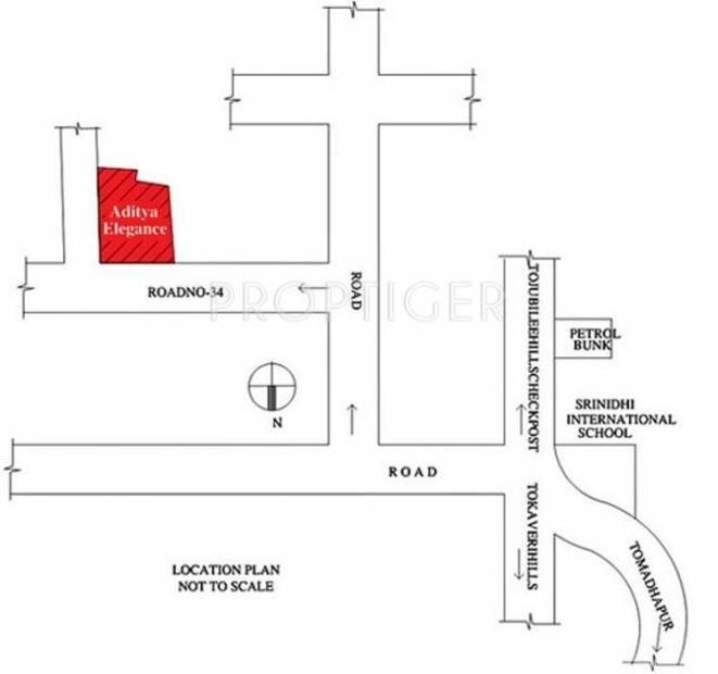 elegance Images for Location Plan of Sri Aditya Elegance