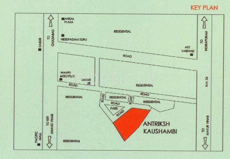 Images for Location Plan of The Antriksh Antriksh Kaushambi
