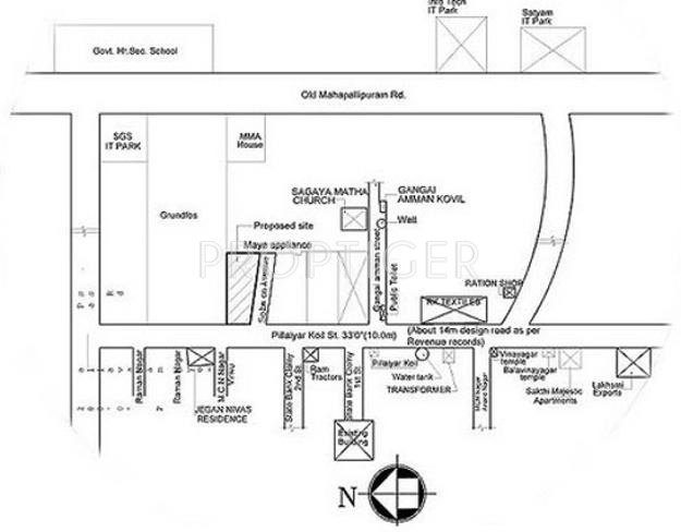 Images for Location Plan of Priya Constructions VSR Paradise Phase 3